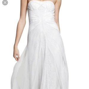 BCBG Maxazria Moriza Dress - White (Gardenia) Sz 0